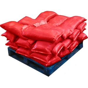 Pre Filled Red Sandbags (uv protected) (35x25kg)