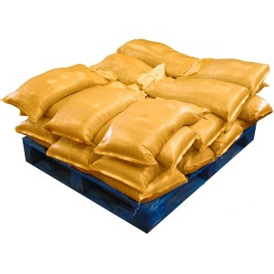 Sandbags Filled Yellow (uv protected) (28x25kg)