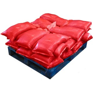 Sandbags Pre Filled Red (uv protected) (28x25kg)