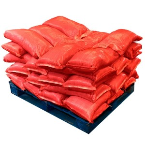 Sandbags Pre Filled Red (uv protected) (42x25kg)