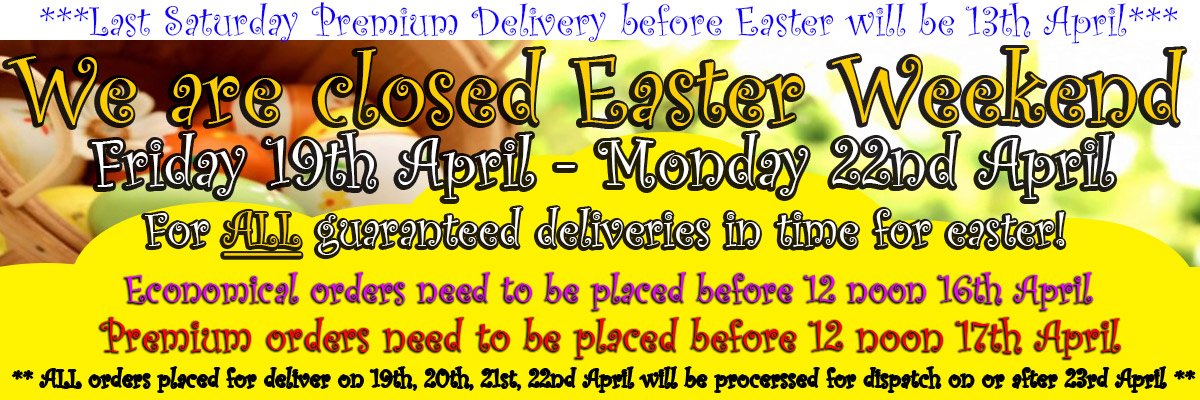We are closed over Easter!!!!